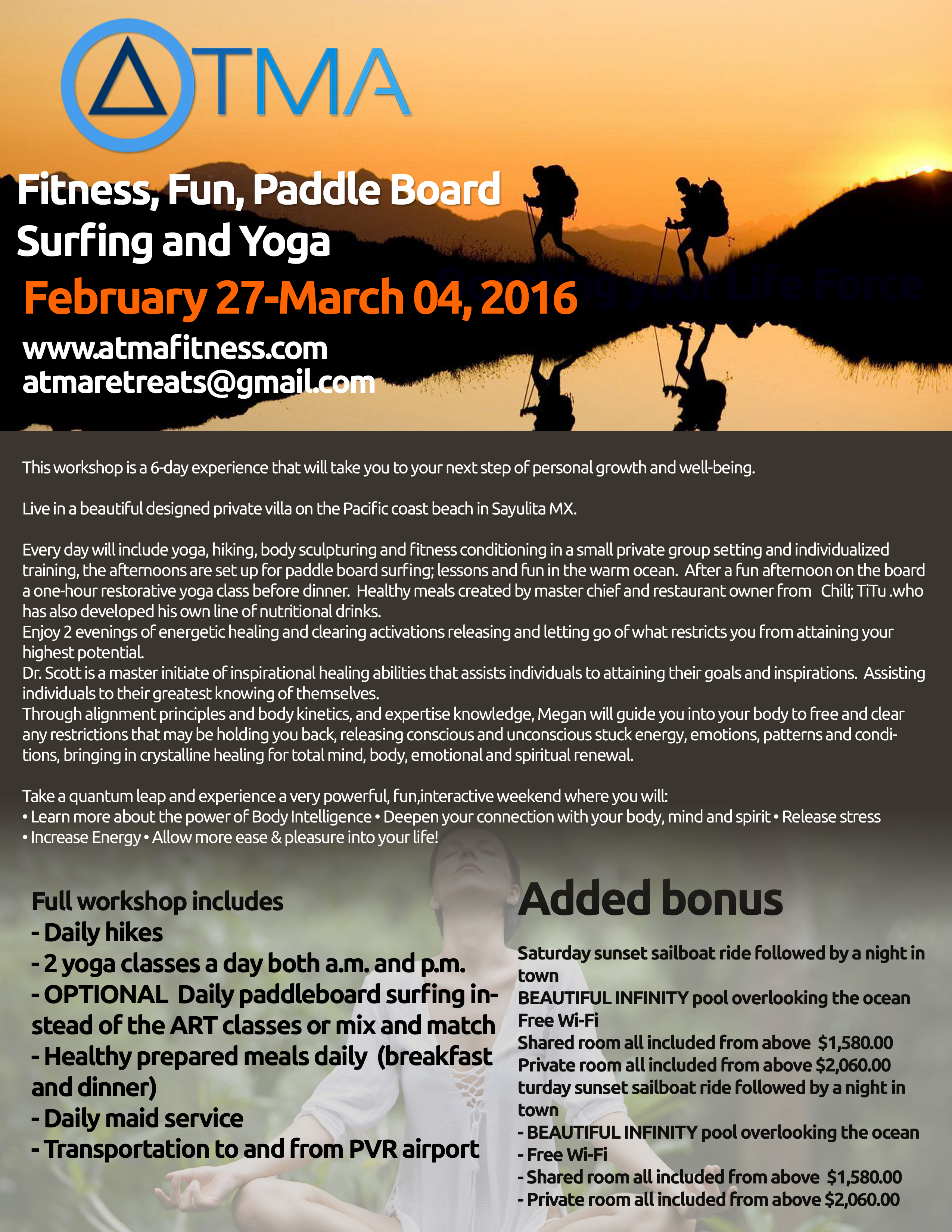 Fitness, Fun, Paddle Board Surfing and Yoga - feb 7 copy